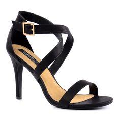 Snake sandalen met hak - zwart