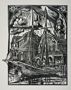 A Schooner Sits In Gloucester Harbor: Don Gorvett.
