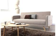 Sofa cover en lin lave blanc avec ganse velours noir et for Canapé convertible scandinave pour noël création chambre bébé