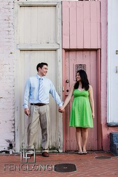 Destination engagement session in French Quarter New Orleans