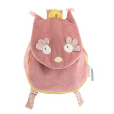 Brand: Moulin Roty (Mademoiselle et Ribambelle) Product Type: Kid Backpack Age: Size: Washing instructions: Machine washable at on wool cycle. Owl Backpack, Leather Backpack, Nylons, Sparkling Eyes, French Fabric, Cute Handbags, Mademoiselle, Powder Pink, Kids Backpacks