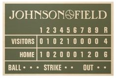 "Personalized Baseball Scoreboard - Now available as a 36"" x 24"" Wood Print! 