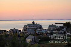 Sunset On Monhegan Island by Marcia Lee Jones #sunset #Mohegan #island