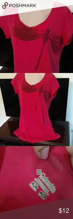 Nwot Columbia xl tee Nwot pink longer length tee w dragonfly. Sz xl Columbia Tops Tees - Short Sleeve