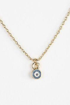 Teeny Tiny Evil Eye Necklace #urbanoutfitters
