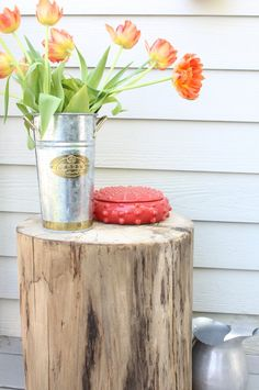 Stump Side Table www.simplestylings.com