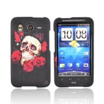 KarenDeals offer ROSE SKULL BLACK Rubberize Hard Plastic Case For HTC Inspire 4G. This awesome product currently limited units, you can buy it now for  $1.79, You save - New