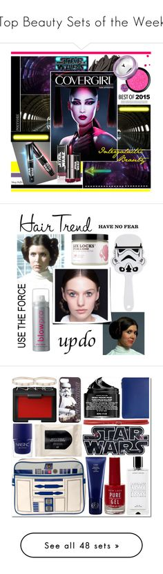 """""""Top Beauty Sets of the Week"""" by polyvore ❤ liked on Polyvore featuring beauty, Bobbi Brown Cosmetics, Deborah Lippmann, Beauty, makeup, covergirl, starwars, Episode, blow and holidayupdo"""