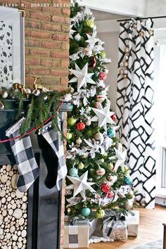 Easy DIY Buffalo Check Christmas Stockings | Tutorial