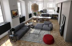 N House | Architecture & Interior Design | Living Room | Trieste - Italy | RNDR Studio - www.rndrstudio.it