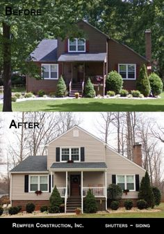 Rempfer Construction, Inc. Siding - Shutters Before & After Shutters, Shed, Outdoor Structures, Construction, Cabin, Photo And Video, House Styles, Instagram, Homes