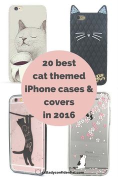 A selection of 20 amazing cat themed iPhone cases - click on the picture to see them all