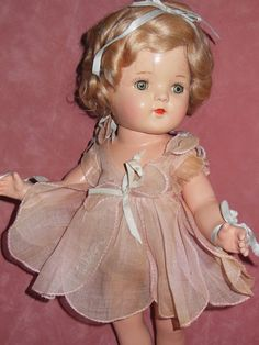 Arranbee Composition Nancy Early Tin Eye Doll original Clothing