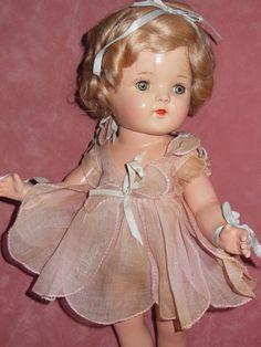 Arranbee Composition Nancy Early Tin Eye Doll original Clothing