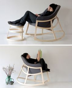 Furniture Ideas - 14 Awesome Modern Rocking Chair Designs // The minimal design of this & Scandinavian Design: Recliner from Swedish furniture designer ... islam-shia.org