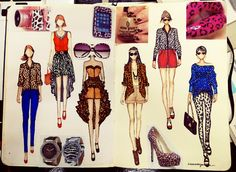 fashionary sketch animal print