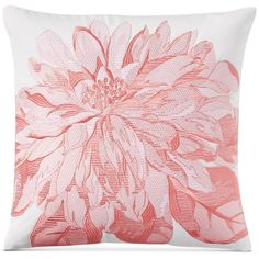 "Charter Club Damask Designs Embroidered Floral 16"" Square Decorative... ($40) ❤ liked on Polyvore featuring home, home decor, throw pillows, poppy, floral home decor, embroidered accent pillow, floral accent pillows, square throw pillows and floral toss pillow"