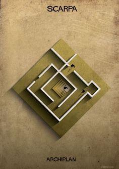 Federico Babina analisa plantas de mestres da arquitetura na série ARCHIPLAN,© Federico Babina
