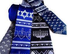 Ugly Hanukkah Sweater necktie by Cyberoptix and Wet House, Detroit