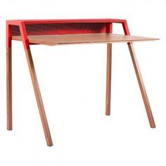 Walnut red desk