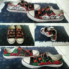 Shoes painting. Old school design
