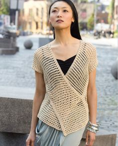 Knitting And Beading Wedding  Bridal Accessories and Free pattern: Crochet Vest free crochet pattern