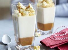 Children's Delight with with caramel and popcorn pudding