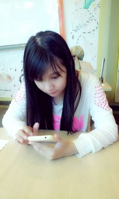 Autis with her android ...