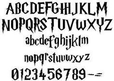 Image result for imagenes de letras de harry potter