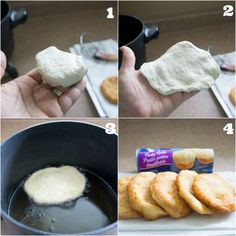 Indian Fry Bread Using Refrigerated Biscuits. You can sprinkle cinnamon sugar on top as soon as you remove it from the oil or use it for tacos. So unhealthy but yummy! Indian Fry Bread Recipe Easy, Easy Bread Recipes, Banana Bread Recipes, Cooking Recipes, Navajo Tacos, Indian Tacos, Canned Biscuits, Flaky Biscuits, Pain