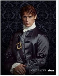 Sam Heughan as Jamie Fraser in new promo photos of Outlander Season Two on Starz