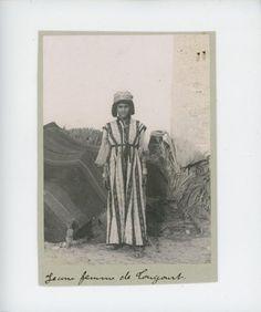 Algérie Tougourt Une Jeune Femme Vintage Print Tirage citrate 9x12 Circa