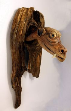 Dragon Wood Carving Hand Carved Fantasy Art by Mike Berlin on Etsy