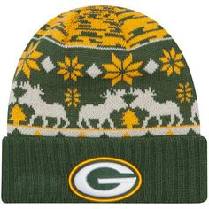 Men s Green Bay Packers New Era Green Mooser Cuffed Knit Hat Packers Pro  Shop 5f8ef8836