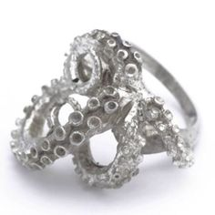 Silver Tentacles Ring