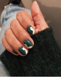 49 Thanksgiving Nail Art Design Ideas That Make You Want To Copy - - Nail designs, Green Nail Art, White Nail Art, Green Nails, White Nails, Red Nail, Pink Nail, White Manicure, Nail Art Vert, Nail Art Blanc