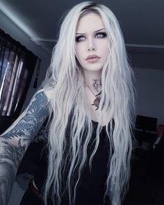 Norwegian/Swedish Tattoo Artist and ModeI: Ida Modliba (Ida Ristner.morbida) Norwegian/Swedish Tattoo Artist and ModeI: Ida Modliba (Ida Ristner. Gothic Girls, Hot Goth Girls, Estilo Rock, Goth Beauty, Dark Beauty, Tattoed Girls, Inked Girls, Emo Fashion, Gothic Fashion