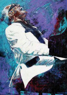 Ray Charles | Fine Art Print by Robert Hurst | adamnfineartist.com | Rock Music, R & B