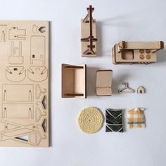 wooden furniture kit for doll's house by MilkyWood on Etsy