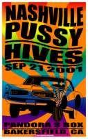Nashville Pussy Poster - Pandoras Box, Bakersfield - Darren Grealish