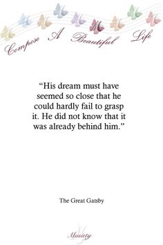 Quotes From The Great Gatsby Alluring The Great Gatsby Quote Art Print Poster 13 X 19In  Gatsby Gatsby .