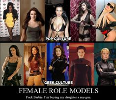 Role models...oh please let my daughter be geeky like me.