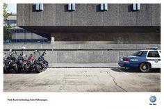 Volkswagen ad: PARK ASSIST TECHNOLOGY FROM VOLKSWAGEN.