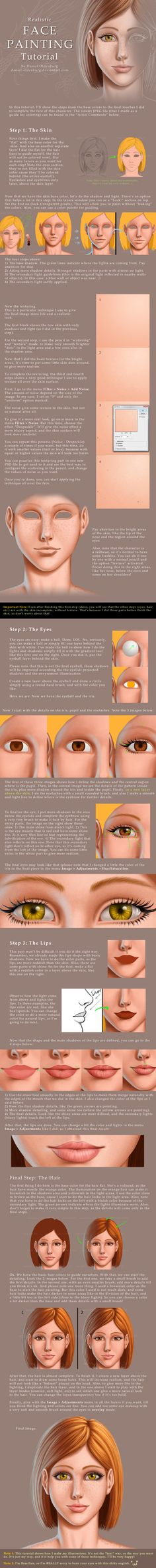 Face Painting Tutorial by ~daniel-oldenburg