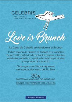 #LoveIsBrunch, ¡celebra este San Valentín en el Restaurante Celebris de forma diferente!