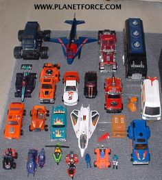 OK, so they might have been a blend of GI Joe and Transformers, but M.A.S.K was the PERFECT blend...like cookie dough, or PB & J. I only owned the teal '57 Chevy here, but a buddy had all the rest, so I lived vicariously through his toy collection.