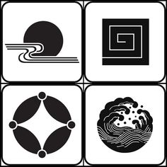 Kamon are Japanese emblems or crests, corresponding to the European heraldy tradition, and are used to specifically represent and identify a. Chinese Patterns, Japanese Patterns, Japanese Design, Japanese Art, Tattoo Japonais, Art Japonais, Logo D'art, Art Logo, Japan Logo