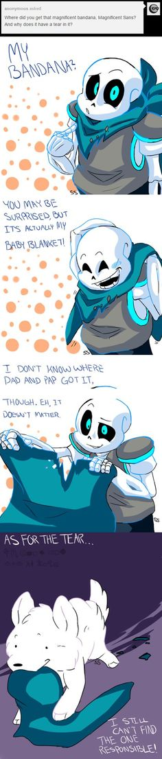 sans - underswap - i made my own au with my version of g!sans and i cause why the hell not? i'll just copy and paste what i wrote here, too lazy for that shit.Sans in KindredTale is kind of more leani.