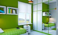 Resultado de imagen para habitaciones color verde de hombre