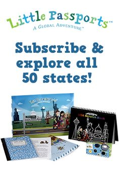 Learn about all 50 states with activity-packed journals.